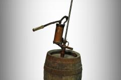 Pivní tlakostroj s pákou značky Alois Husák, Praha-Košíře, pípa do sudu s pumpou