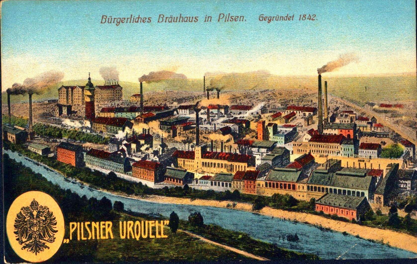 """Burgerliches Brauhaus in Pilsen """"Pilsen Urquell"""" RU orlice"""