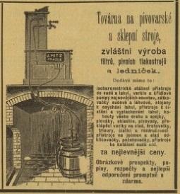 J. Hitz, továrna na pivovarské stroje