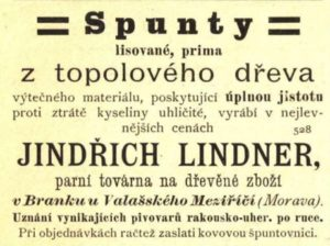 Špunty z topolového dřeva Jindřich Lindner
