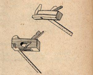 Okrojník dnový neboli Brámovník je bednářský hoblík s pravítkem na hoblování malých kulatých den sudů